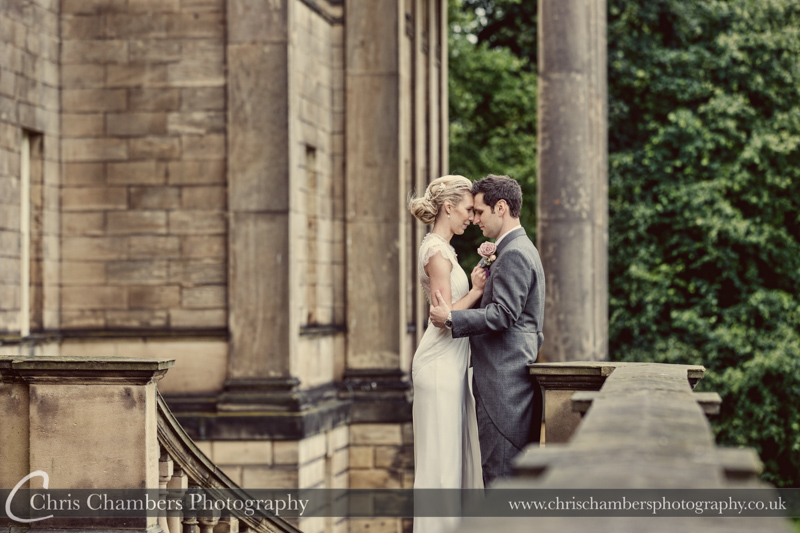 Wakefield wedding photography of the bride and groom at Nostell Priory, West Yorkshire wedding photography taken at Nostell Priory