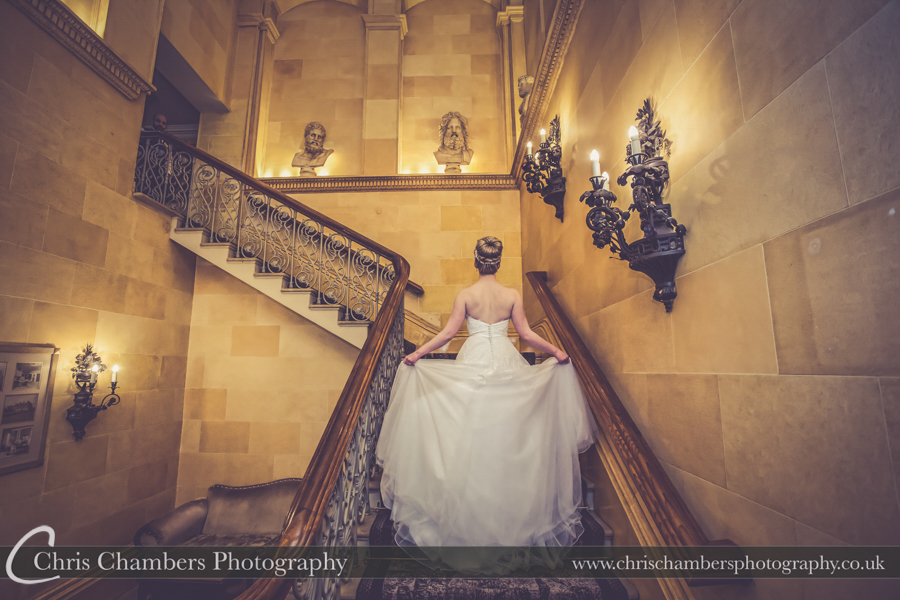 Leeds wedding photographer in West Yorkshire, Oulton Hall wedding photography of the bride and groom, Yorkshire wedding photos